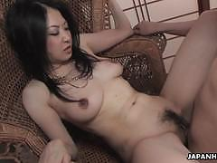 Japanese babe fucked in threesome