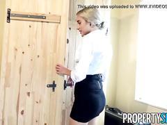 Propertysex - private investigator fucks hot blonde real estate agent