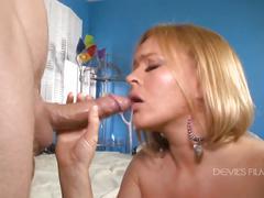 Blonde busty ass slut teases for a fuck
