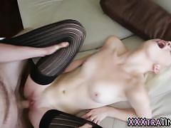 Barely legal blonde maddy rose sex in the couch