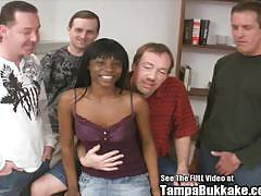 Ebony slut pounded by white meat