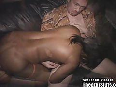 Sassy amateur sucking cock