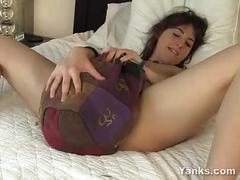 Horny amber masturbating her hairy slit