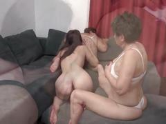 lesbian, mature, old and young, threesome, more