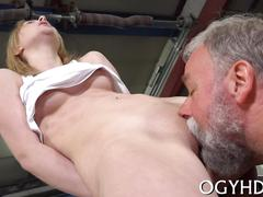 Nasty old dude fucks  mouth film