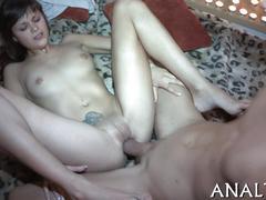 Provocative anal pleasuring amateur