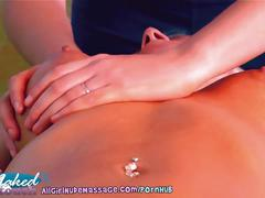 lesbian, allgirlnudemassage.com, round ass, big boobs, busty, blonde, huge tits, breast squeeze, bubble butt, oil, rubbing, shaved pussy