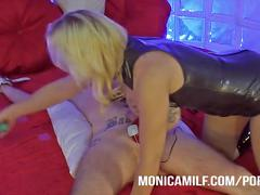 Monicamilf have a dirty femdom mind - pegging and electro sex in norway