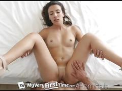 Myveryfirsttime - brunette sophia grace gets her tight ass pounded by cock