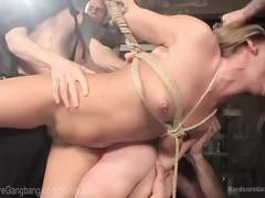 blonde, bondage, rough sex, gangbang, hardcoregangbang, bdsm, kink, halloween, rough, hardcore, horror, virgin, satanic, suspension, throat-fuck, big-cocks, cock-sucking