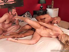 Rampant wife rides this huge cock
