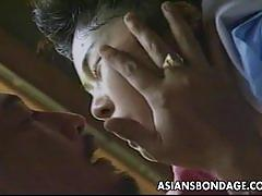 Dominated asian fucked hard and rough