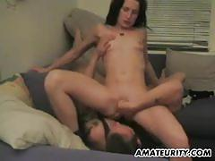 Teen babe gets her pussy slammed