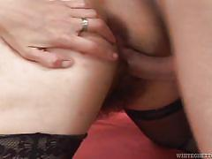 Hairy pussy revitalized @ 50 year old anal addicts #4