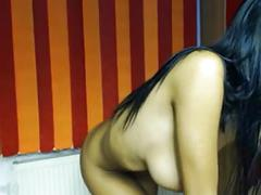 Busty camgirl get naked
