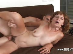 Sex with elder woman with hairy hole