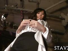 Wild sex  for asian in stockings video