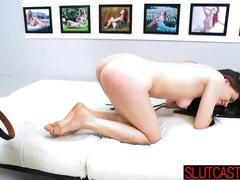 Young brunette proves to be a real fucking slut segment