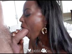 4k hd - exotic4k ebony tiffany taylor loves big white cock