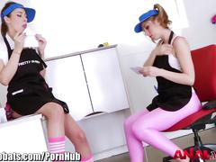 Analacrobats dirty girls love toys and blowing cock