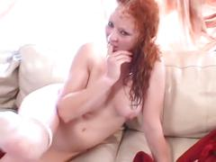 anal, tube8.com, redhead, mmf, double penetration, cowgirl, stockings, natural tits, doggy style, milf, cum on ass