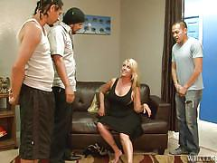 Horny gang fucking lusty joclyn @ we wanna gang bang your mom #23