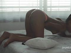 small tits, babe, solo, masturbation, dildo, brunette, pov, joymii, apolonia
