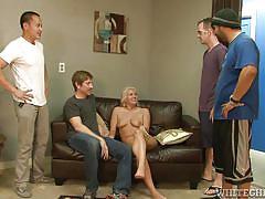 Lusty couple goes hardcore @ bi cuckold gang bang #06