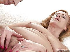 Two grannies play with dildo @ my grandmas a lesbian #02