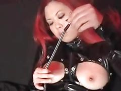 Pinching and pulling her hard nipples!!!!!!!