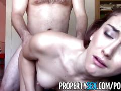hardcore, propertysex.com, pov, brunette, shaved cunt, big ass, bubble butt, cumshot, cowgirl, doggystyle, facial, small tits, round booty, deepthroat, cock sucking
