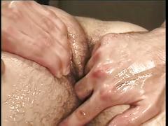 erotic, tube8.com, solo, masturbation, garage, oiled, prostate, fingering, jerking off, jerked off, jerk off, masturbates, closeup, hairy