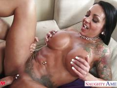 hardcore, ashton blake, big tits, brunette, busty, cumshot, doggy style, mom, mother, myfriendshotmom, naughty america, naughtyamerica, piercing, raw, tatto