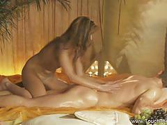 Erotic massage to oily handjob
