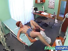 Raunchy redhead rides this hard cock