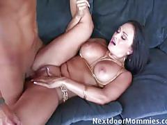 Hot milf fucks on the couch