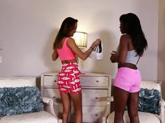 Alina li and ana fox having an interracial threesome