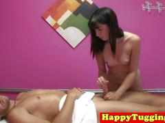 Asian handjob masseuse gina tugging client