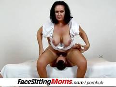 Bbw big tits mom danielle facesitting tiny boy
