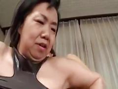 Japanese mature lesbians enjoy each other
