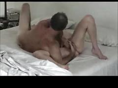 Older hubby works wife's g spot during nice lovemaking