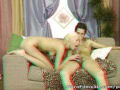 Porn films 3d - lucky dude drilling blonde's ass