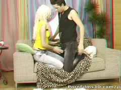Porn films 3d - lucky dude drilling blonde's ass
