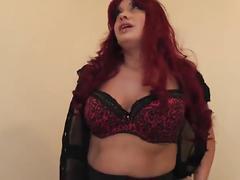 Secratary sookie sucking, fucking stockings+suspenders pussy creampie pov