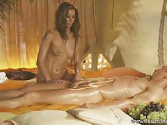Hot masseuse relieves stress with a full massage
