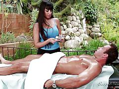 Latina gives a nice rubdown @ the masseuse #09