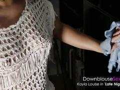Kayla louise - downblouse sexy video lookbook 1 exotic horny babe