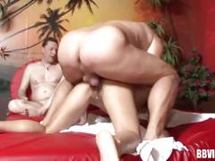 Swinger german whore gets fucked in threesome