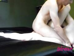 Rough sex & messy blowjob live delrawr show