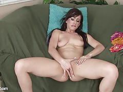 Luscious brunette jennifer white masturbating